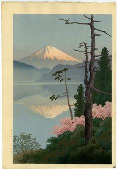 Ito Yuhan Japanese Woodblock Print MT Fuji from Taganora 1930   eBay