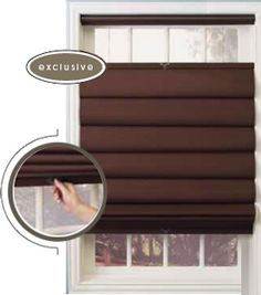 Holy Smokes, FINALLY a solution to our huge kitchen window!  cordless top down / bottom up roman shades from levolor
