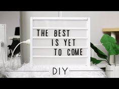 Today we are going to make a DIY LED Lightbox that is perfect for your room decor! What I love about this DIY is how great it looks and the ability to change. Cinema Light Box Quotes, Cinema Box, Led Diy, Citations Lightbox, Lightbox Quotes, Diy Neon Sign, The Sorry Girls, Neon Box, Diy Lampe