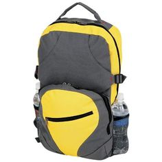 Pin it! :)  Follow us :))  zCamping.com is your Camping Product Gallery ;) CLICK IMAGE TWICE for Pricing and Info :) SEE A LARGER SELECTION of Camping Daypack Backpacks at http://zcamping.com/category/camping-categories/camping-backpacks/daypack-backpacks/ - camping, backpacks, daypacks camping gear, camp supplies -  YELLOW & GRAY DAYPACK BACKPAK « zCamping.com