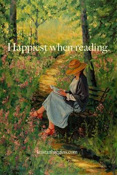Happiest when reading...or writing.