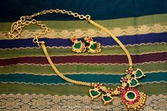Gold Plated Necklace Designs, Gold Plated Kerala Style Necklace Designs