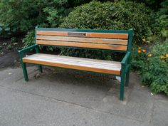 Bench has no clear space beside it