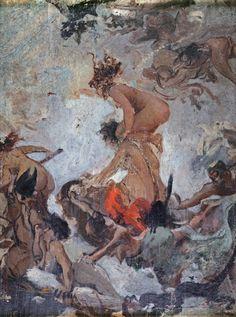 Luis Ricardo Falero (Spanish, 1851-1896)  Study for Witches Going to their Sabbath