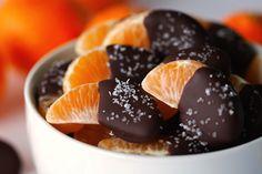 SALTED CHOCOLATE DIPPED MANDARIN SLICES RECIPE