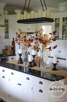 home accents kitchen Kche Herbst Dekor Ideen, die - Fall Home Decor, Autumn Home, Diy Home Decor, Fall Mantle Decor, Mantel, Holiday Decor, Fall Living Room, Living Room Decor, Living Rooms