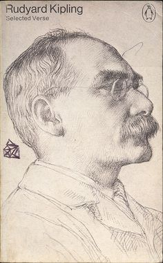 Portrait of Rudyard Kipling by W. Strang, from the National Portrait Gallery, London