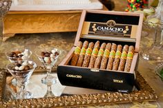 beer & pretzel cigars with custom bands    photo by @Carasco Photography