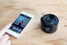 The Sony Smart Lens, can be used attached to smart phone or tablet, or can be disconnected and used remotely.