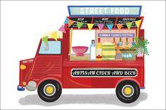 French Citroen Bar illustration by Liv Wan Illustration. Wine Cocktails, Summer Cocktails, Food Vans, Ice Cream Van, Food Stall, Food Illustrations, Street Food, Artisan, Cheesecake