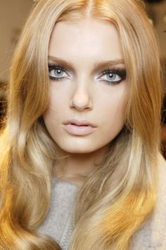 Beautiful makeup & blonde hair