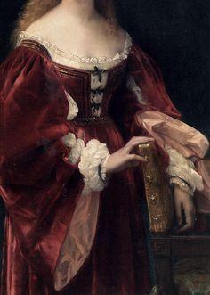 detailsofpaintings:  Alexandre Cabanel, Une Patricienne de Venise (detail) 1881