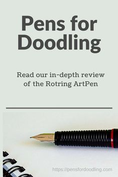 An in-depth review of the Rotring ArtPen including photographs and sample images. Rotring Art Pen, Pen Nib, Fountain Pen, Pens, Photographs, Photos