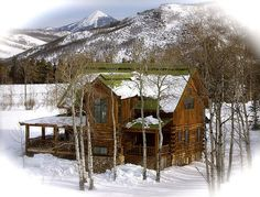 Simple rustic beauty at the cabin in the mountains! Love the snow!