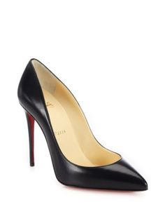 2daaafcc533 A prime example of timeless chic rendered in fine Italian leather with the  unmistakable signature red sole.