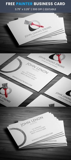 Painter business card business cards business and logos free painting business card reheart Image collections