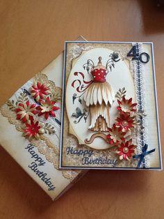 Birthday card with a box
