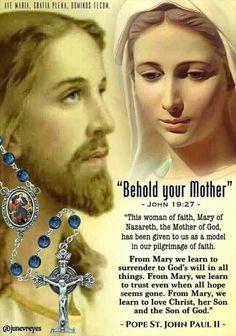 Catholic Quotes, Catholic Prayers, Rosary Quotes, Religious Sayings, I Love You Mother, Surrender To God, Jesus Christ Images, Miracle Prayer, Mama Mary