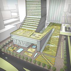 dorissimsenjoy - 0 results for architecture drawing Architecture Concept Diagram, Green Architecture, Futuristic Architecture, Architecture Design, Building Architecture, Mix Use Building, Building Concept, Building Design, Park