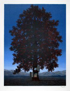 Magritte Lithograph Signed, La voix du sang