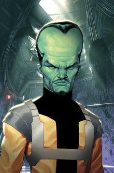 Marvel Comics: Leader by Ariel Olivetti. Hulk nemesis. Super villain.