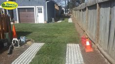 """""""After"""" > Drivable Grass installed by Hancock Outdoorscapes."""