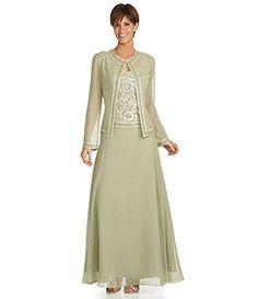 Jkara Shimmer-Trim Jacket Dress