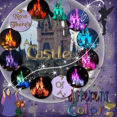 Cinderella's Castle -- like the layout with multiple small picks of the same thing