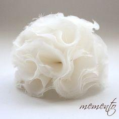 Jocelyn Ivory Silk Organza Flower by Mauve Binchely / by MyMEMENTO, $23.99