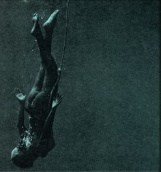 Japanese Ama Diver *descending* Underwater photograph by Fosco Maraini from the book Hekura, The Diving Girl's Island