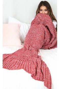 Mermaid Blanket In Red