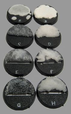 Mini Basing/Terraining - 8 ways to base your models with snow