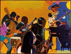 Romare Bearden, really captured the complexity of African American life, the visual art partner to August Wilson. African American Culture, African American Artist, American Artists, American Life, Romare Bearden, 3 Gif, Art Partner, Jazz Art, Harlem Renaissance