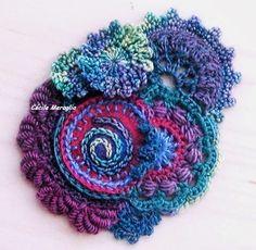 Felt, embroidery and crochet