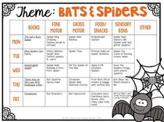 Tons of bat & spider themed activities and ideas for tot school, preschool or kindergarten.