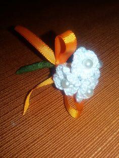 Detalles para celebraciones. Ramillete hecho a crochet.