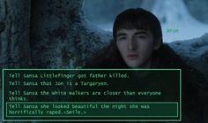 Bran... #gameofthrones #branstark #sansastark Season 7