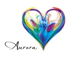 Aurora Logo design - A heart shaped out of smoky air, ink drops in water or.. Very colorful brand for your company. Price $625.00