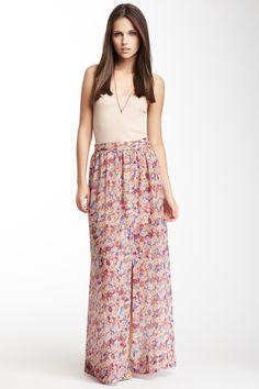 BCBGeneration Floral Print Maxi Skirt