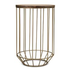 Threshold™ Gold Wire and Wood Accent Table...would look amazing with a marble top instead...I bet I could hack this :)