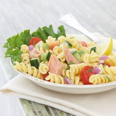 Salmon Pasta Salad with Mint and Lemon Vinaigrette - WomansDay.com