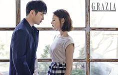 Jin Goo & Kim Ji Won are a sweet couple in pictorial for 'Grazia'