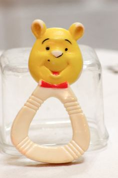 Vintage Baby Toy Winnie the Pooh Teether by CabinOn6th on Etsy, $3.00