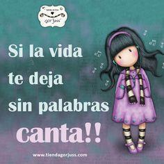 Si la vida te deja sin palabras...canta!!  #gorjuss #santoro #sinpalabras #cantar #littlesong