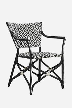Ibiza Deck Chair - Black & White