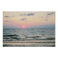 Shop Clearwater Beach Sunset Poster created by cherylarogers. Beautiful Beach Pictures, Beach Photos, Beautiful Beaches, Lanai Island, Island Beach, Clearwater Beach Florida, Where Is Bora Bora, Beach Pink, Beach Posters