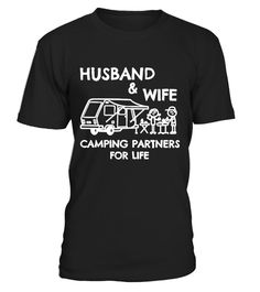 Husband and Wife Camping T-shirt