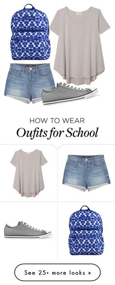 """""""On the bus to school"""" by melw44 on Polyvore featuring Olive + Oak, J Brand, Converse and Vera Bradley"""