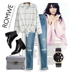 """""""Romwe"""" by loveliest-back ❤ liked on Polyvore featuring White House Black Market"""