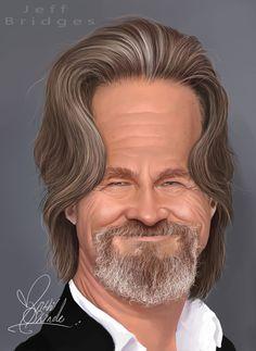 Caricatura de Jeff Bridges